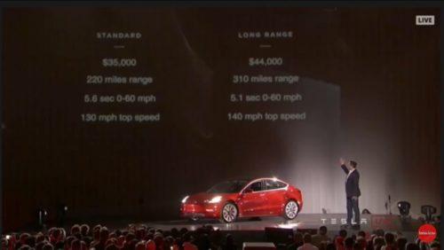 Илон Маск представил Tesla Model 3 Бизнес Технологии