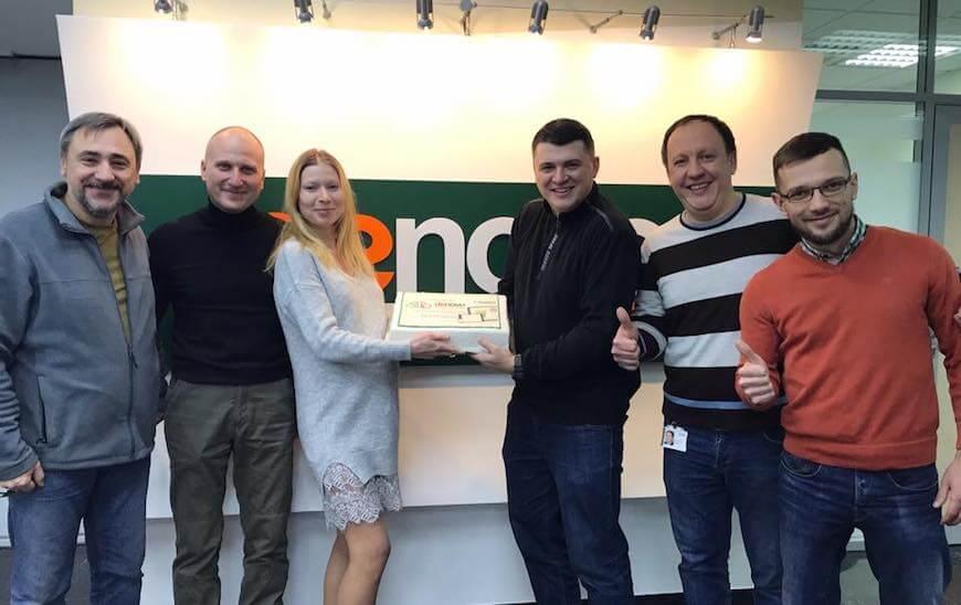 Де Ново Дмитрий Гаврилов и Виталий Липовецкий на сдачи проекта для De Novo CRM Creatio