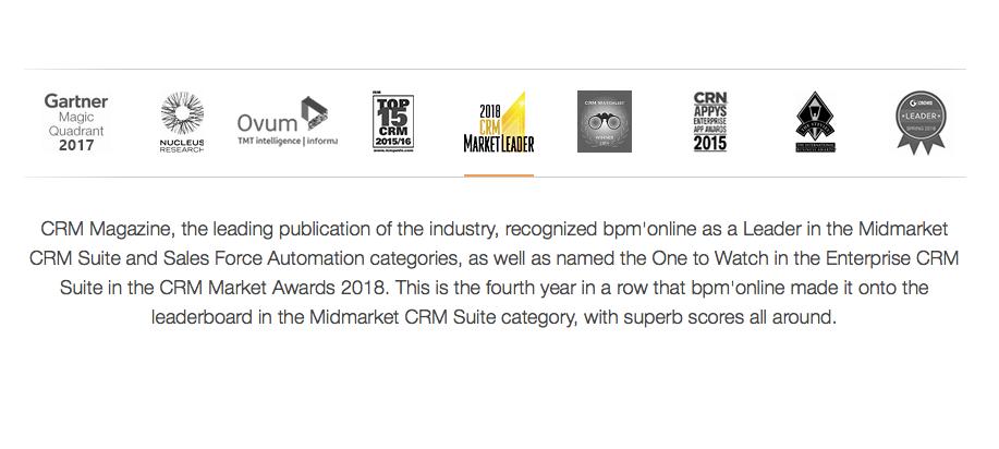 CRM Market Awards 2018