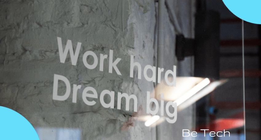 be tech crm creatio work hard dream big
