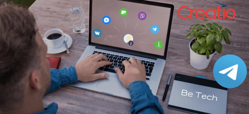 Интеграция Telegram чатов с CRM Creatio путем коннектора к JivoSite от Be Tech